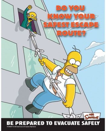 DO YOU KNOW YOUR SAFETY ESCAPE ROUTE POSTER