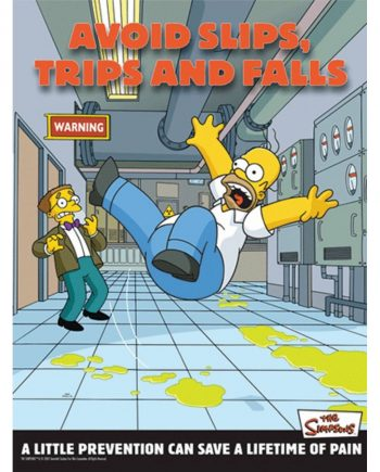 AVOID SLIPS TRIPS AND FALLS POSTER