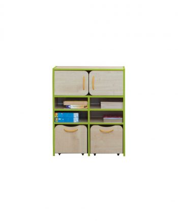 Nature tall storage unit green edging