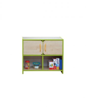 Nature medium storage unit green edging