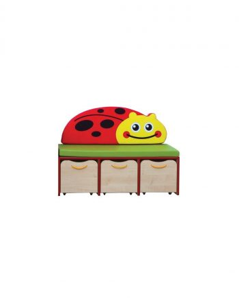Nature small storage unit red edging