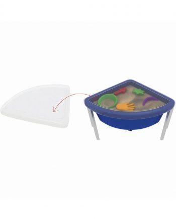 Top for quarter circle play tub