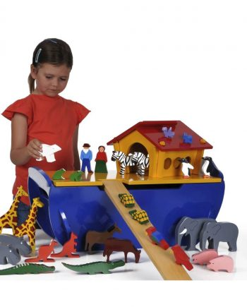 Wooden Noah Ark With Animals