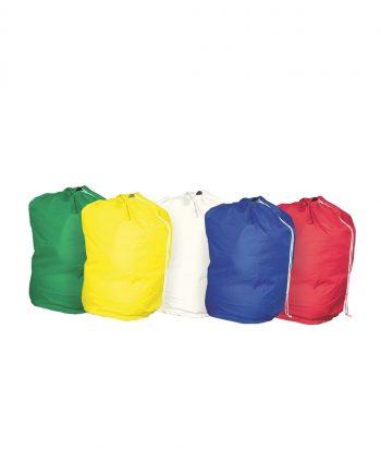 Drawstring Laundry Bag Green