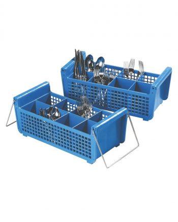 8 Section Flatware Washing Basket
