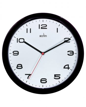 Aylesbury 255mm Colour Clock Black