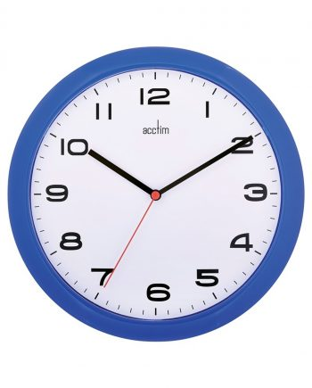 Aylesbury 255mm Colour Clock Blue