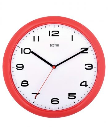 Aylesbury 255mm Colour Clock Red