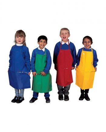 Children's F.R. PVC Apron Blue