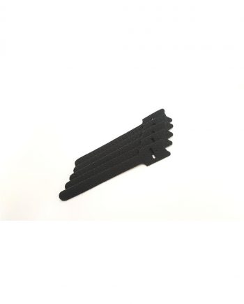 150mm black hook/loop cable ties 5pk