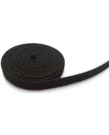 10mm black back to back hook/loop tape (5m roll)