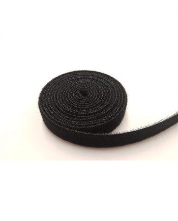 16mm black back to back hook/loop tape (5m roll)
