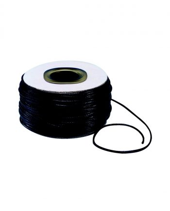Black Waxed Thonging 1mm x 100m