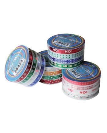 Festive Ribbon Spools 10mm x 4.5mtrs