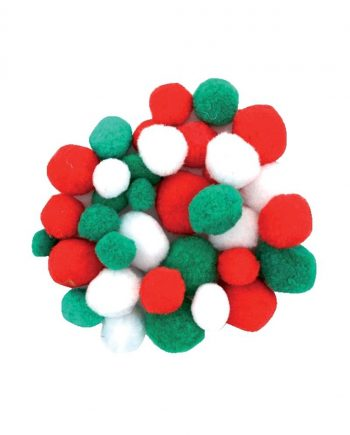 Festive Coloured Pompoms