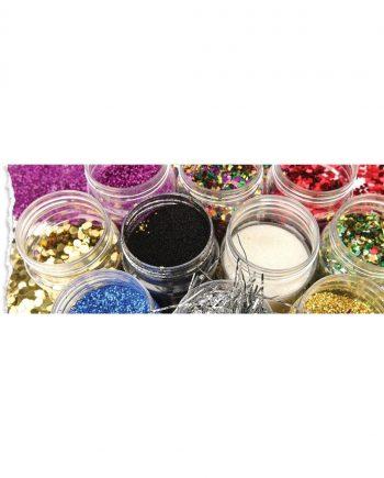 Glitter Flakes Shaker - Black 250g