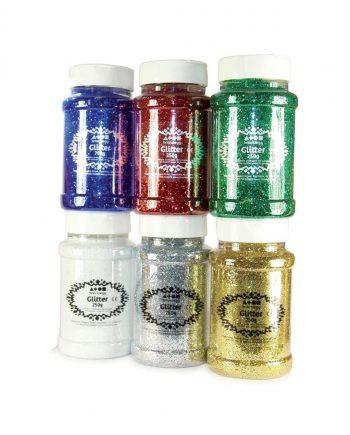 Glitter Flakes Shaker 250g - White
