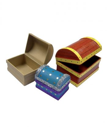 Papier Mache Treasure Chests