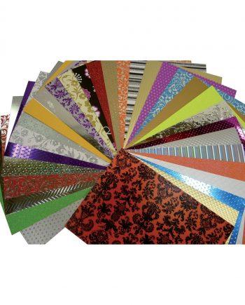 A4 Metallic Textured Card