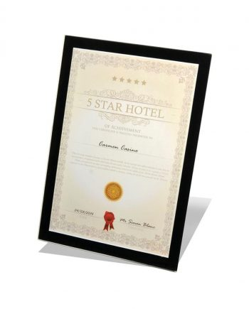 A4 Safety Glass Certificate Frame