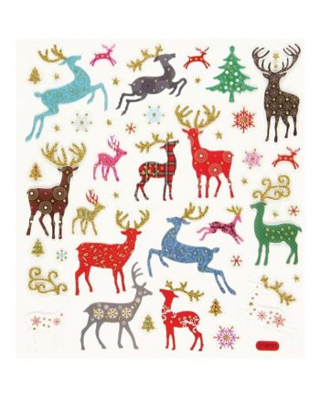 Fancy Glitter Stickers, Reindeer