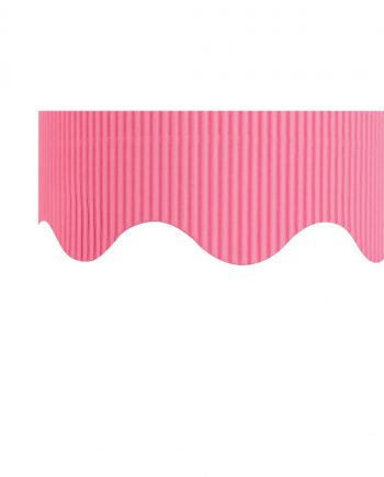 Corrugated Border Rolls - Candy Pink