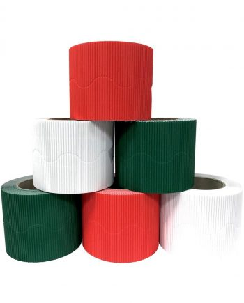 Christmas Corrugated Border Roll Assorted Pack
