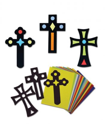 Easter Stain Glass Cross Cards