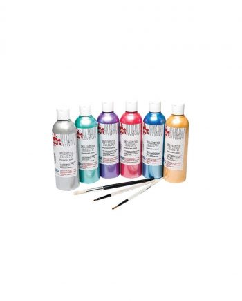 Metallic/Pearl Assorted Colours 300ml Fabric Paint