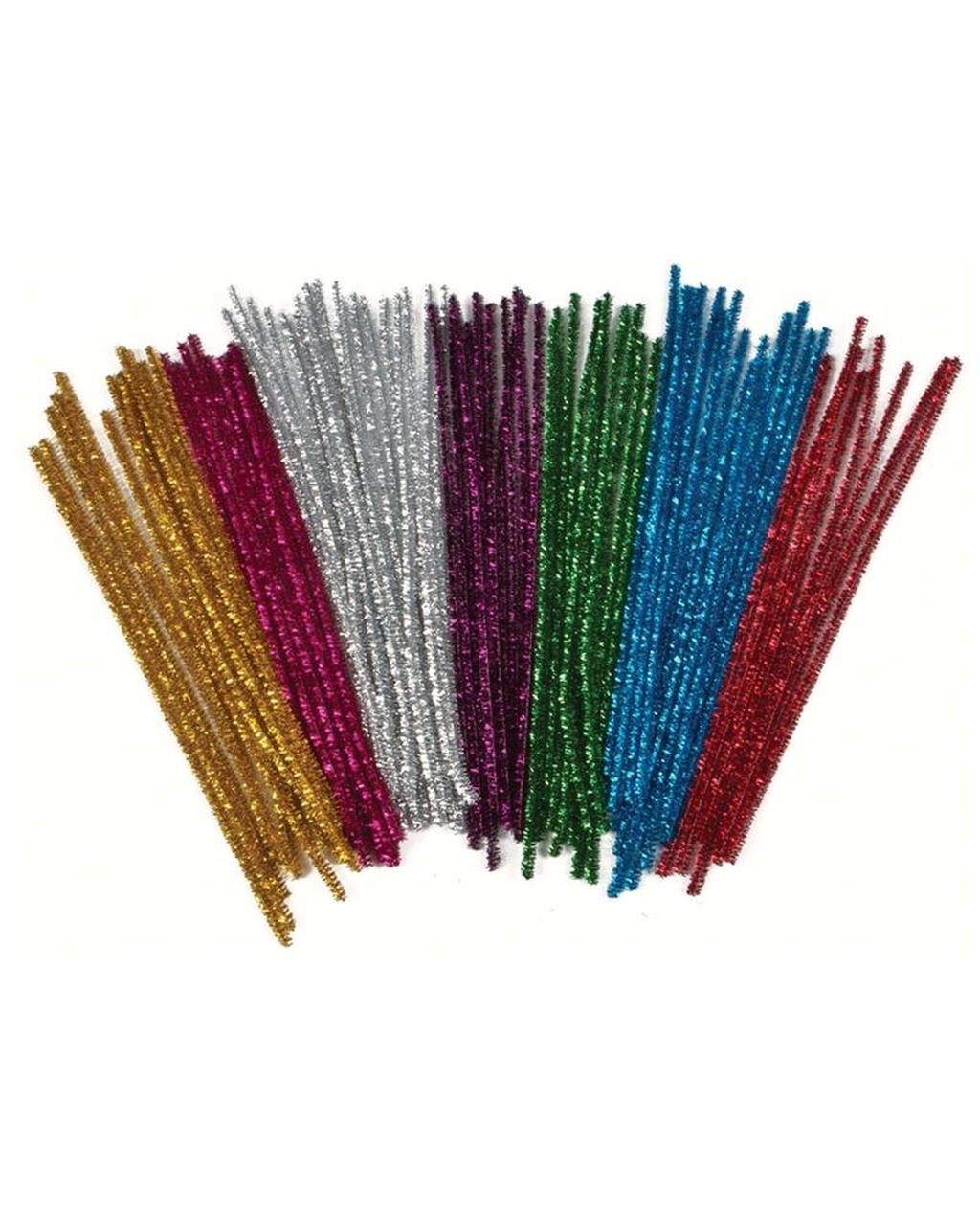 Assorted Tinsel Pipe Cleaners 6mm x 300mm