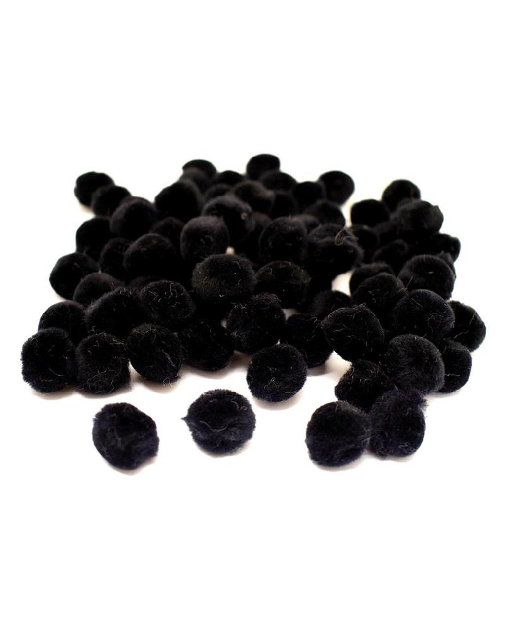 Luxury Fluffy Pompoms 20mm Black