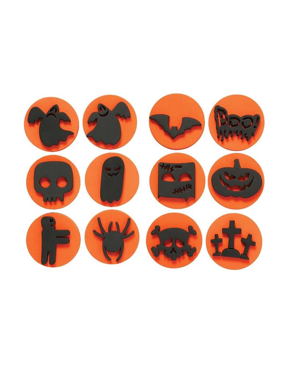 Foam Stamps Assorted 12 Designs Halloween