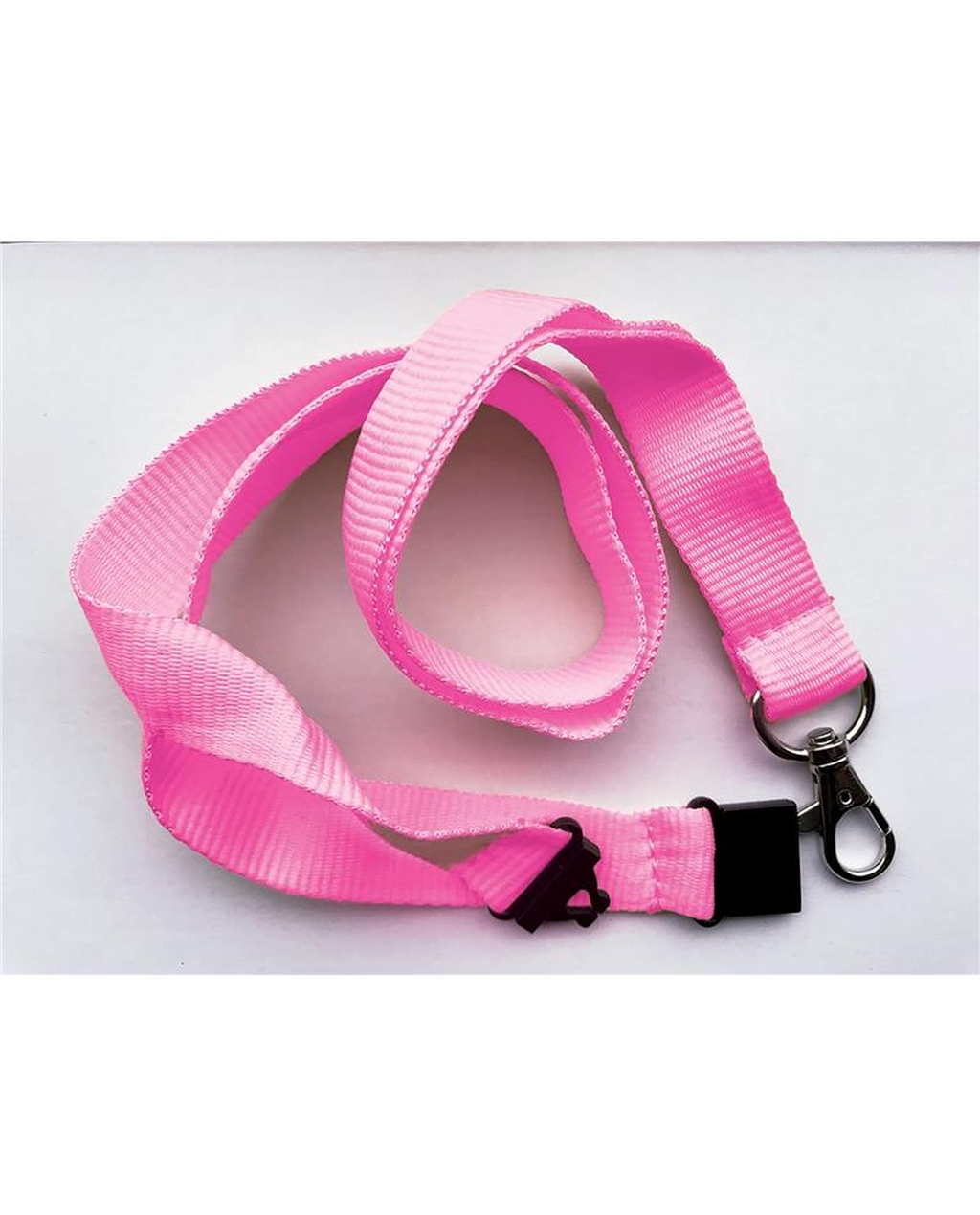 20Mm Lanyards Plain Pink Pack Of 100
