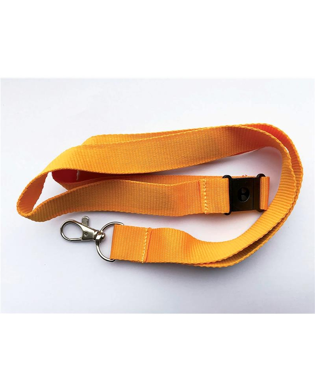 20Mm Lanyards Plain Orangepack Of 25