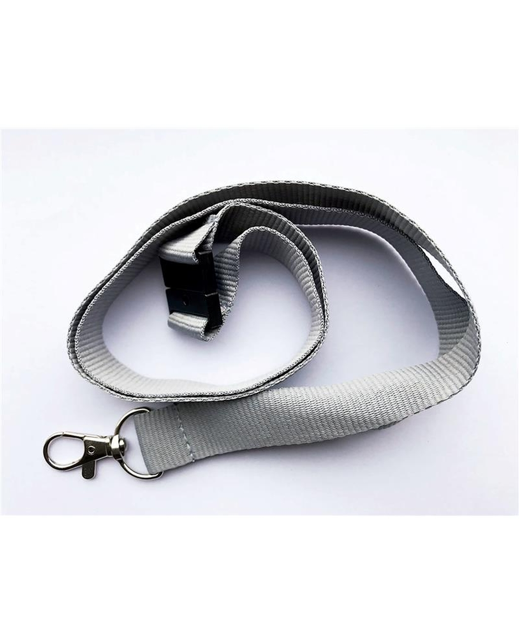 20Mm Lanyards Plain Greypack Of 10