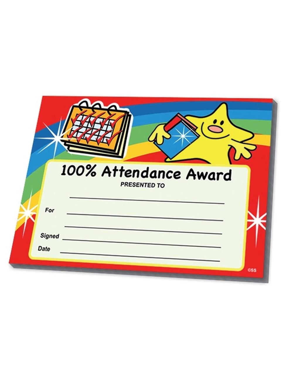 Certifcates - 100% Attendance