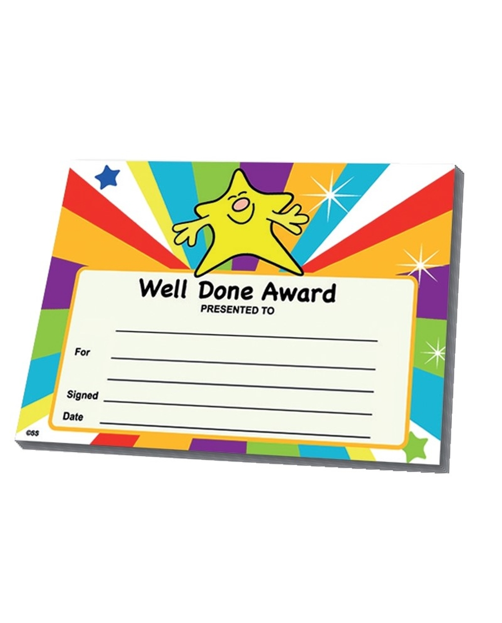 Certifcates - Well Done Award