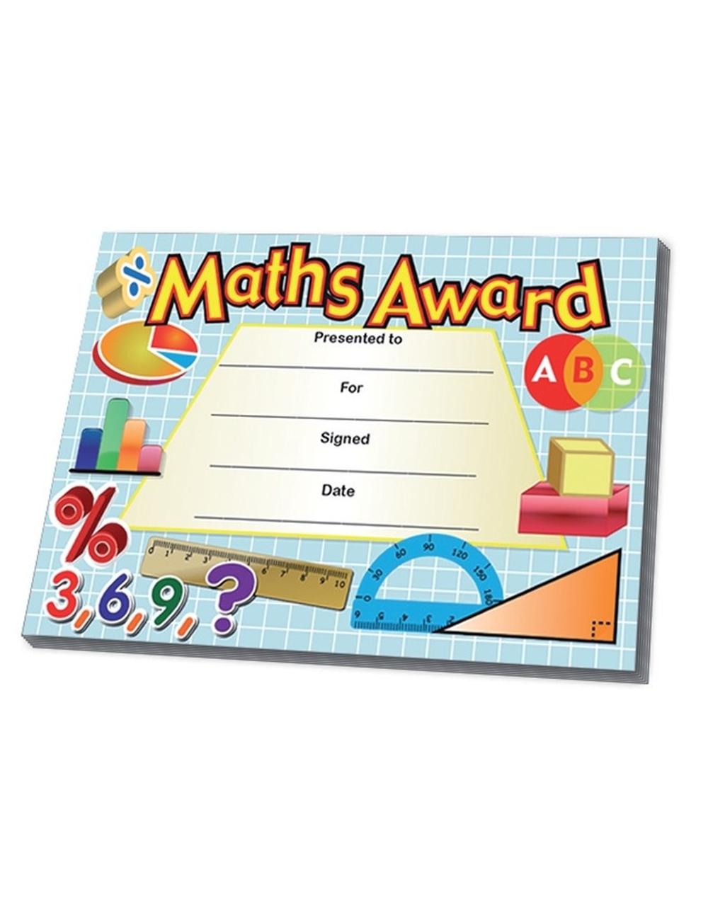 Certificates - Maths Award