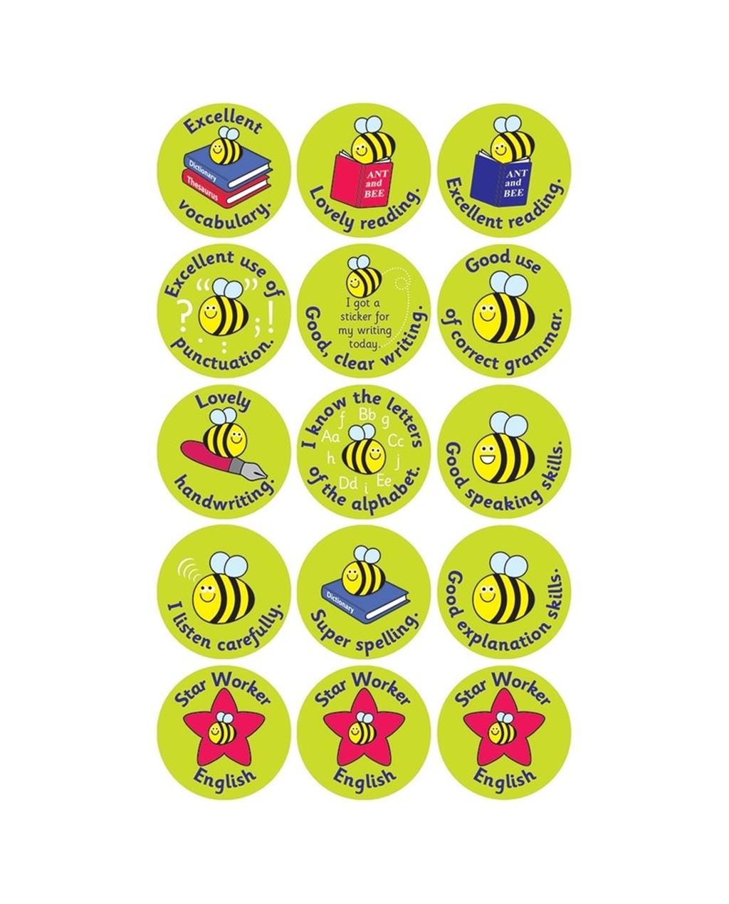 Curriculum Stickers - English