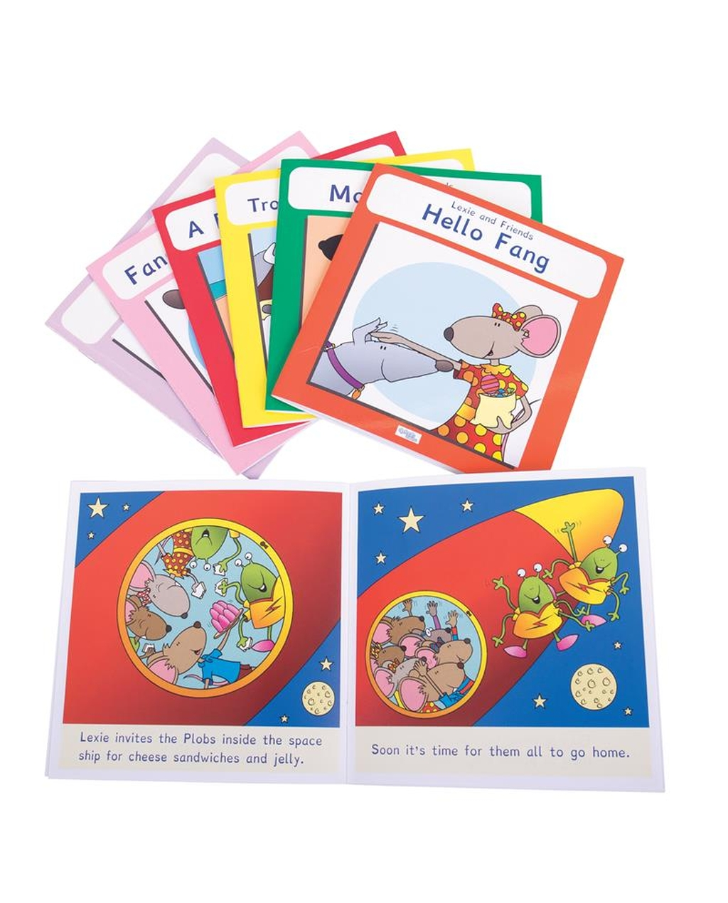 Lexie Mouse Phonic Coloured Book Band - Set 2