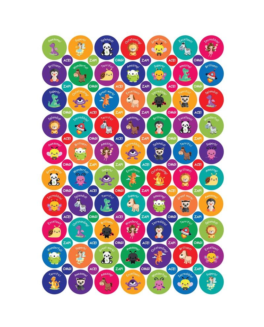 General Exclamation Stickers - 24 & 10mm
