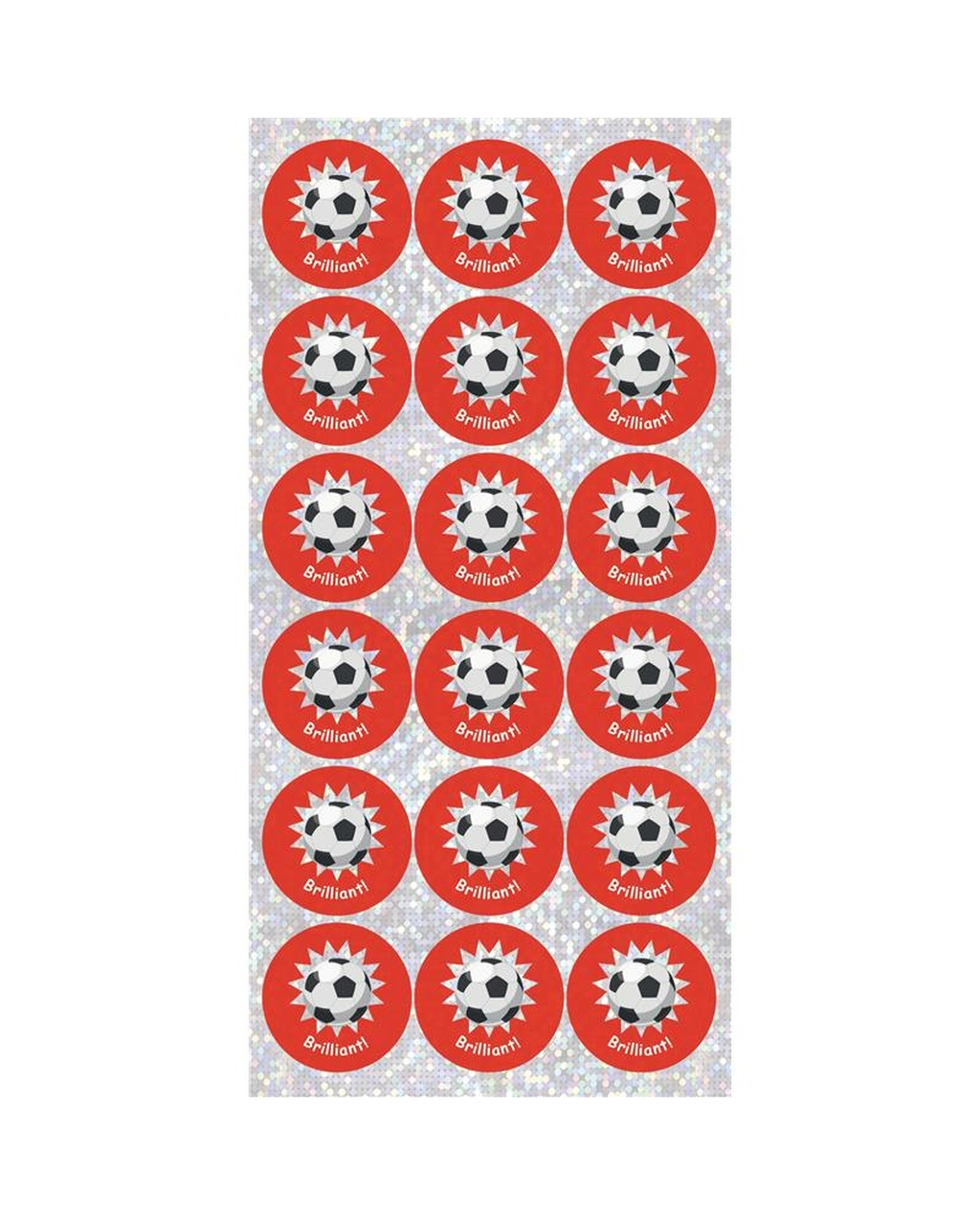 Football Sparkly Stickers