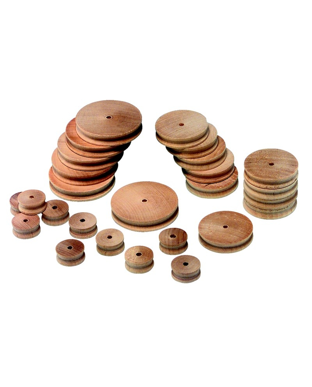 Assorted Wooden Pulleys