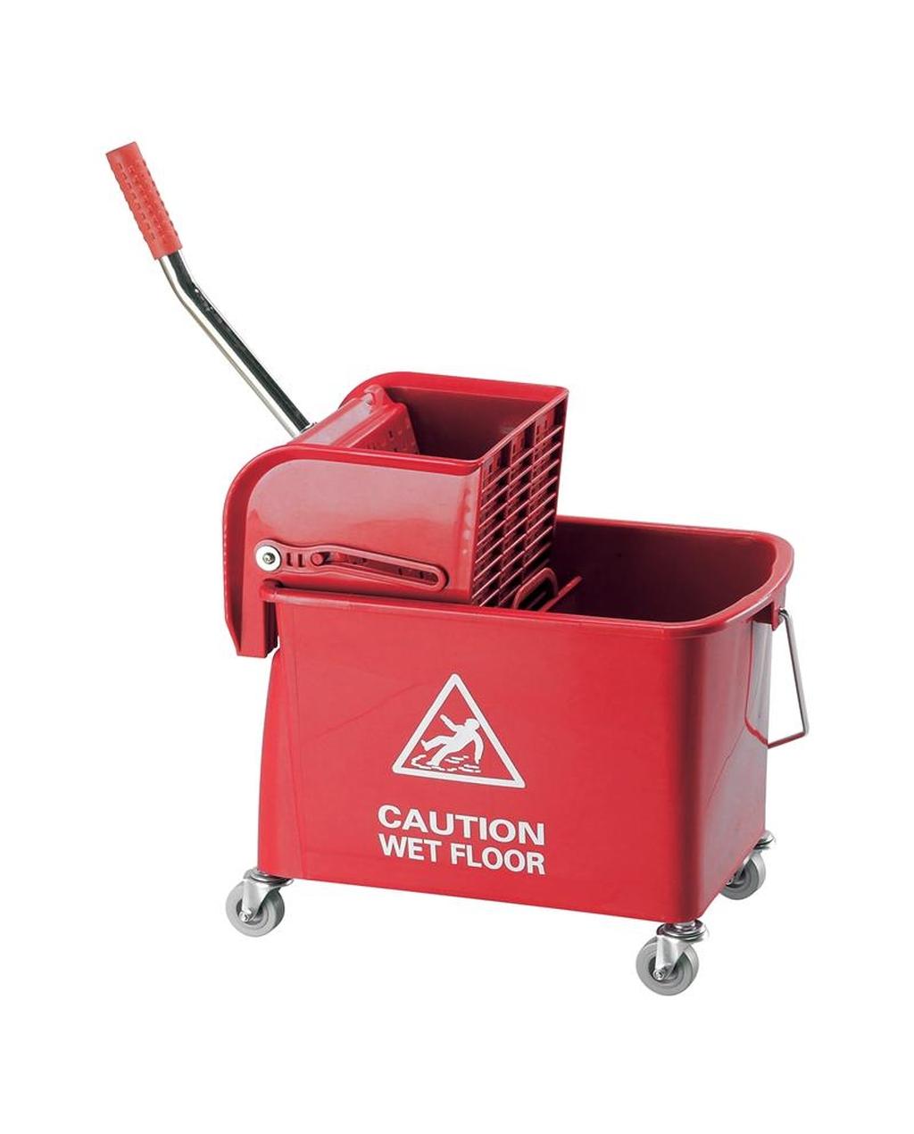20L Wheeled Bucket & Kentucky Wringer - Red