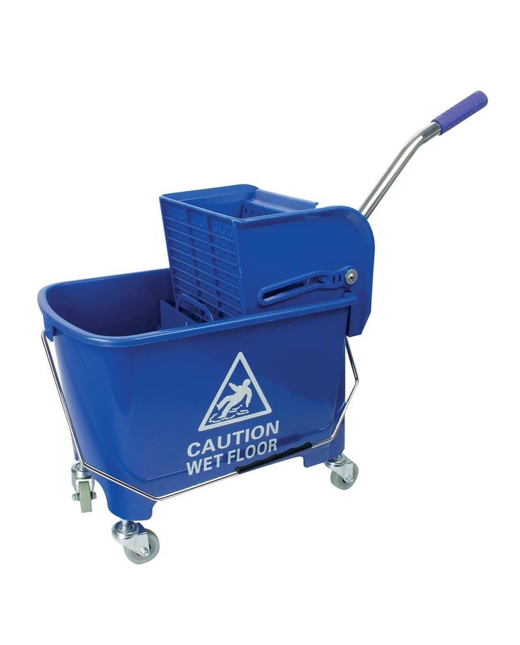 20L Wheeled Bucket & Kentucky Wringer - Blue