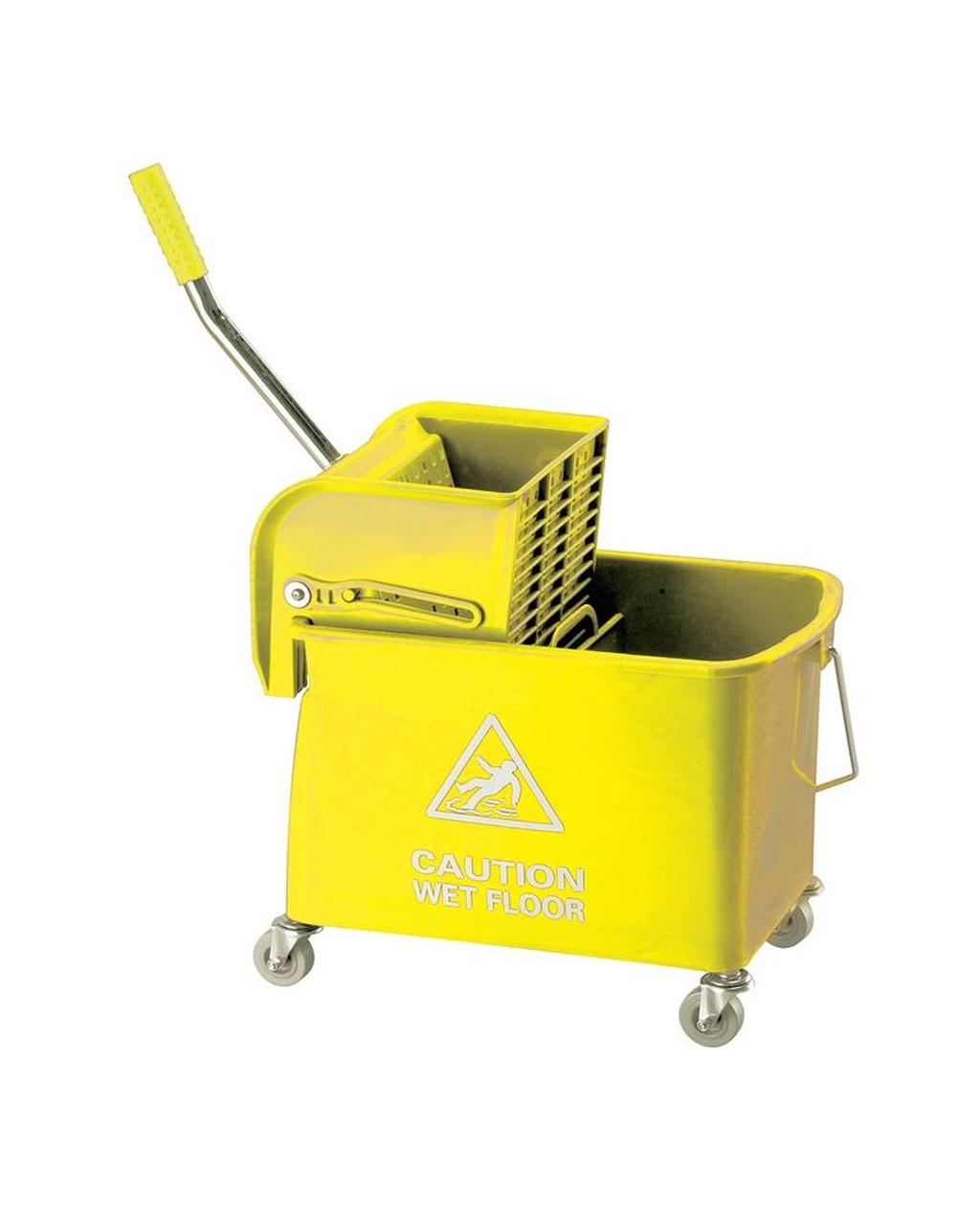 20L Wheeled Bucket & Kentucky Wringer - Yellow