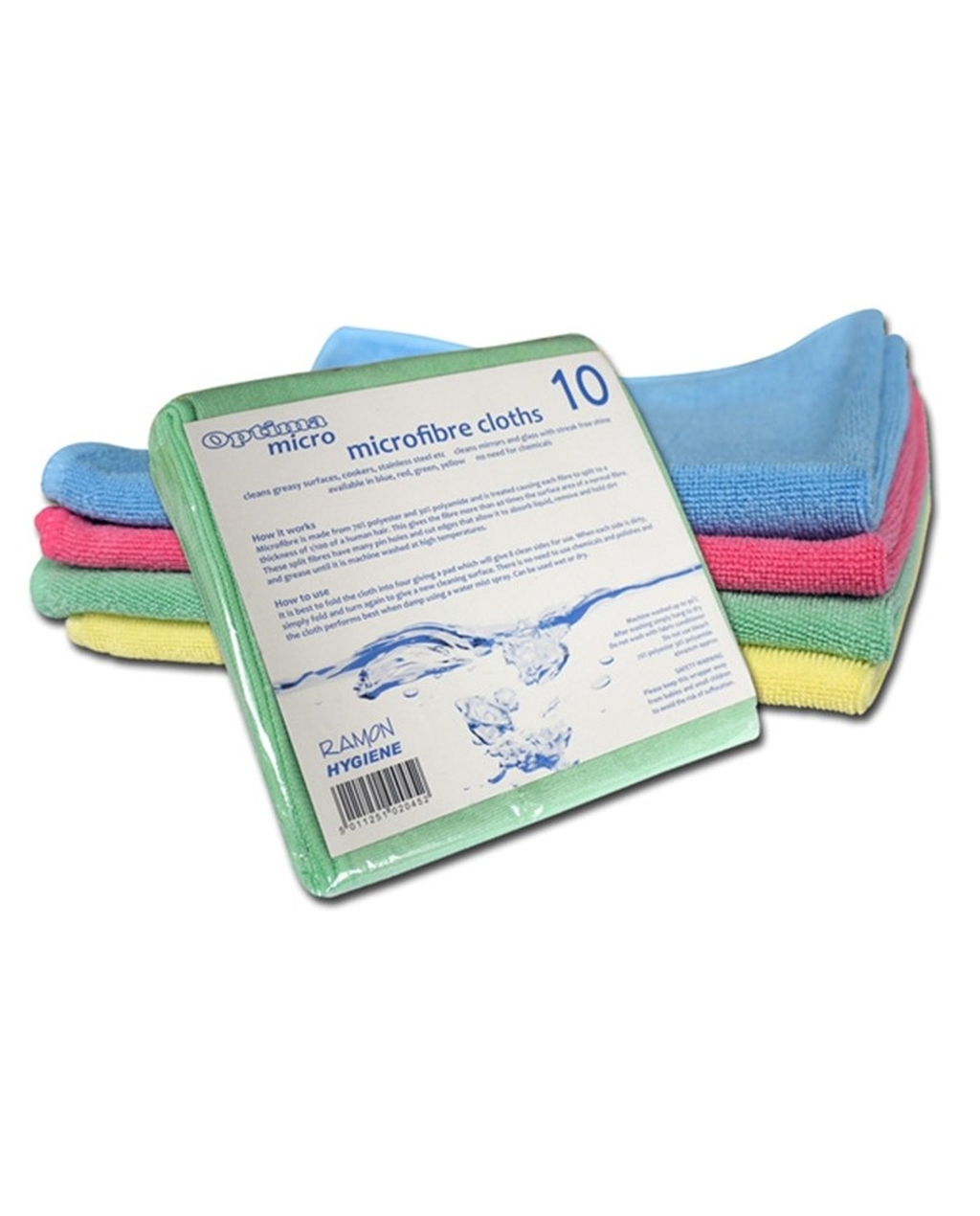 Optima 'Micro' Microfibre Cloths , Blue Pack Of 10