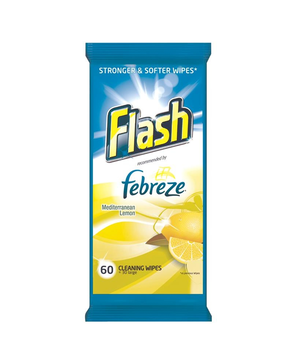 Flash Febreze Cleaning Wipes - Lemon