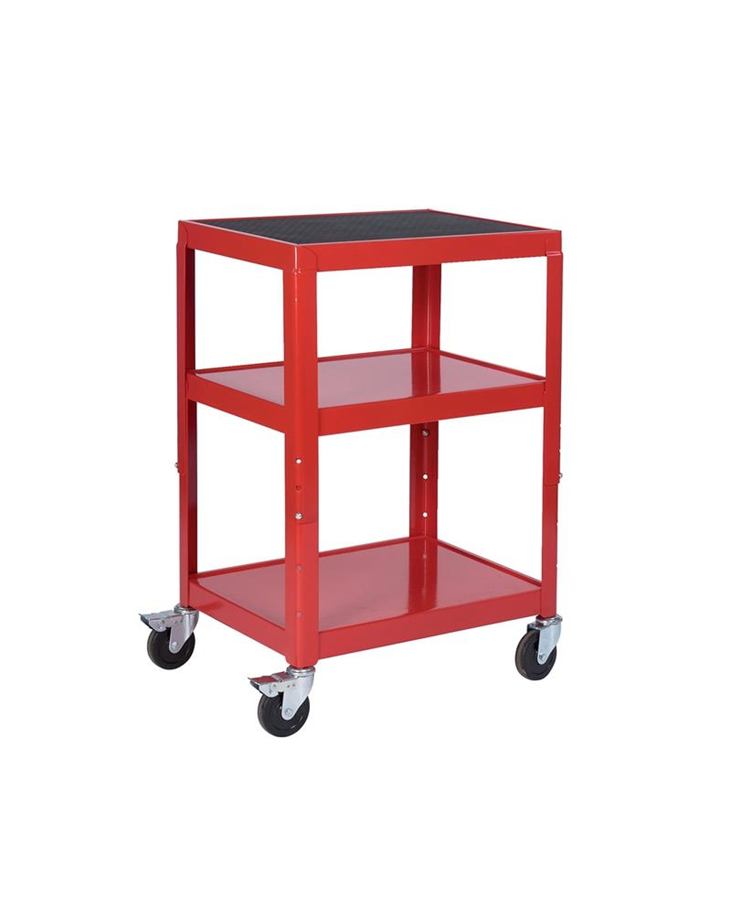 adjustable height trolley red