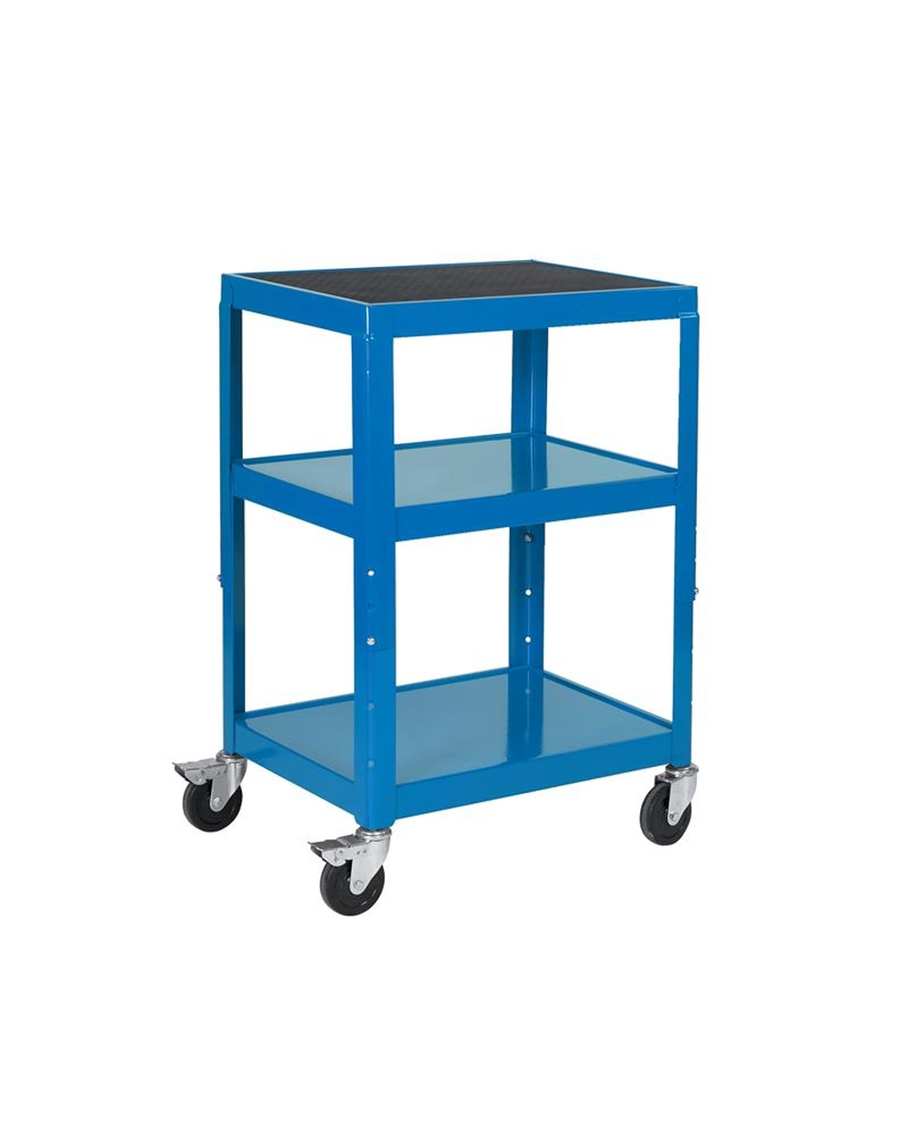 adjustable height trolley blue